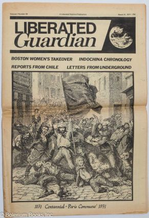Liberated Guardian, vol.1, no. 20, March 31, 1971