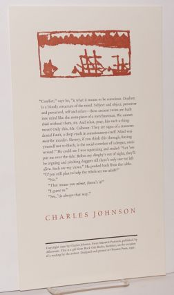Excerpted passage from The Middle Passage; broadside. Charles Johnson
