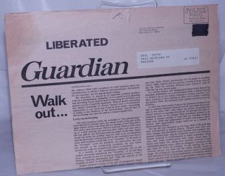 Liberated Guardian, vol.1, no. 1, April 20, 1970