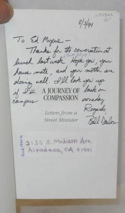 A journey of compassion; letters from a street minister