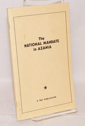 The national mandate in Azania