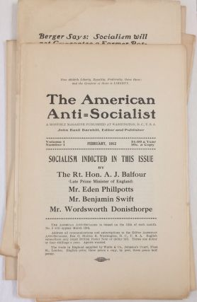 The American anti-socialist. A monthly magazine published at Washington, D.C. John Basil...