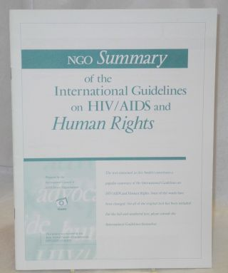 NGO summary of the international guidelines on HIV/AIDS and human rights
