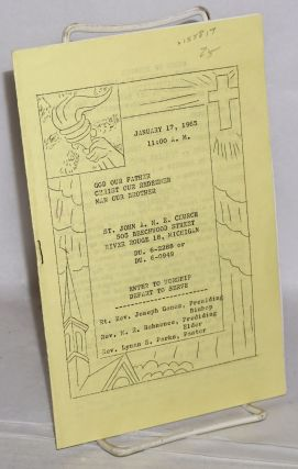 Order of service, January 17, 1965. St. John A. M. E. Church