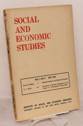 Social and economic studies. Vol. 1, no. 3 (July 1953). H. D. Huggins