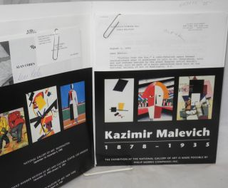 Kazimir Malevich 1878 - 1935; publicity packet with photos