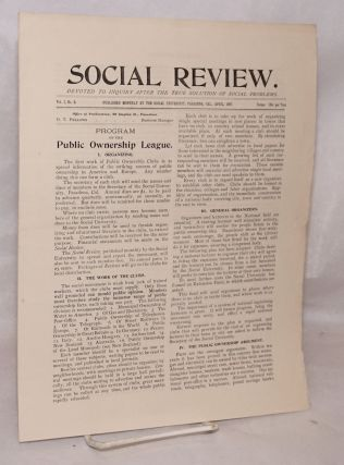 Social review, devoted to inquiry after the true solution of social problems. Vol. 1, no. 3,...