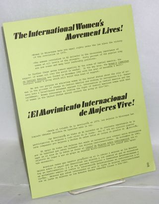 The International Women's Movement Lives! [handbill]. Women's Committee on Central America