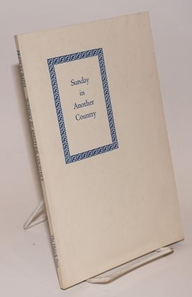 Sunday in another country (poems). Frances Mayes