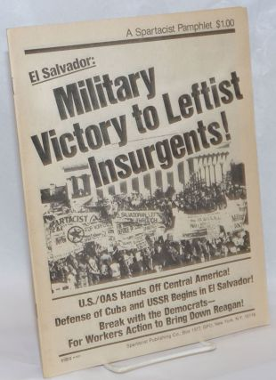 El Salvador: military victory to leftist insurgents!
