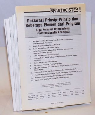 Declaration of principles and some elements of program [versions in thirteen languages]....