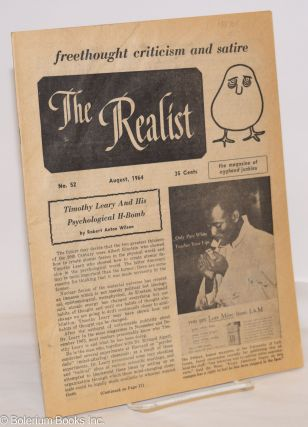 The Realist [no.52], freethought criticism and satire, the magazine of egghead junkies, August...