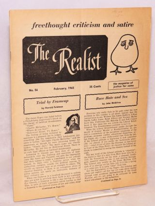 The Realist [no.56], freethought criticism and satire, the magazine of justice for some, Fabruary...