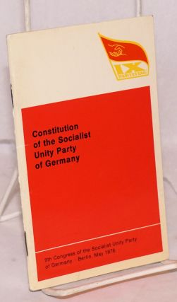 Constitution of the Socialist Unity Party of Germany