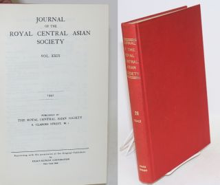 Journal of the royal central Asian society vol. xxix. 1942 [reprint titling] / January, 1942,...