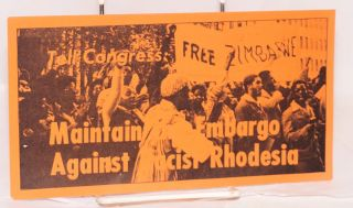 Tell congress: maintain the embargo against racist Rhodesia