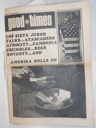 San Francisco Good Times; Vol.3, no.45, Nov.13, 1970