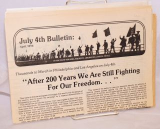July 4th Bulletin: April and June 1976 [two issues, with two additional related items]