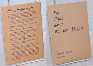 The truth about Reader's Digest. Sender Garlin, Theodore Dreiser William Gropper, review