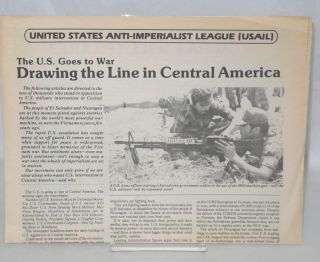 The US goes to war: Drawing the line in Central America. United States Anti-Imperialist League,...