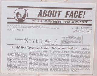 About face! The U.S. Servicemen's Fund newsletter. Vol. 2 no. 3 (April/May 1972