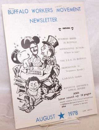 Buffalo Workers Movement Newsletter, August 1978