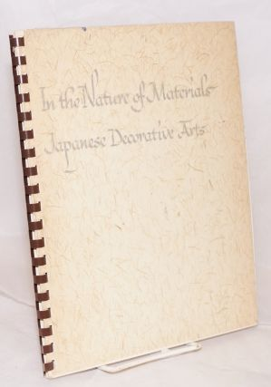 In the nature of materials; Japanese decorative arts. Marjorie Williams.