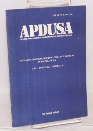 APDUSA: African Peoples Democratic Union of South Africa; vol.vi, no 1, Feb. 1980