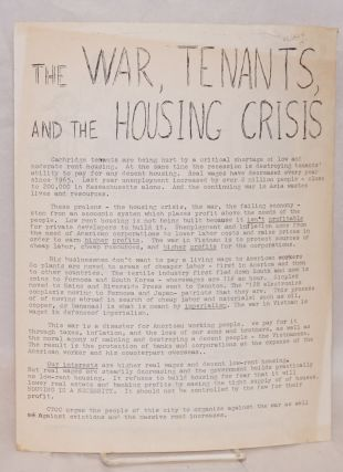 Same enemy - same struggle. Anti-war rally. 1. U.S. imperialists out of Southeast Asia now. 2. No evictions. 3. No rent increases. 4. Build low rent housing