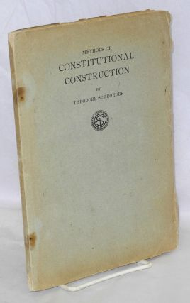 Methods of constitutional construction. The synthetic method illustrated on the free speech...
