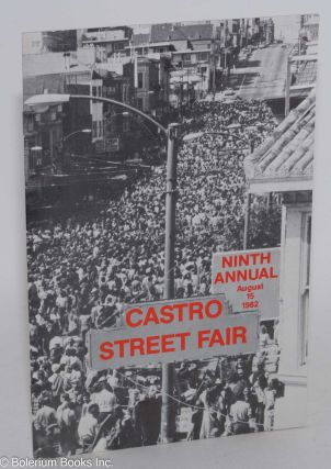Castro Street Fair. Ninth annual, August 15, 1982