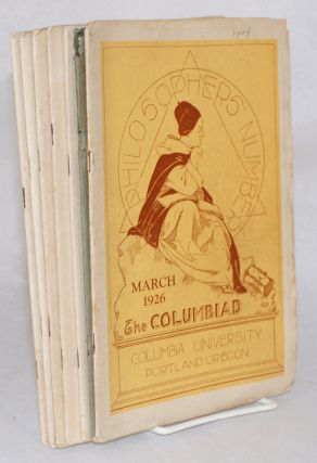 The Columbiad vol xix, no 6 - vol xx, no 3, March through December 1926, broken run missing...