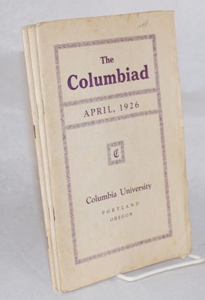 The Columbiad vol xix, no 6 - vol xx, no 3, March through December 1926, broken run missing July-September