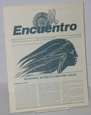 Encuentro: volume 8, no. 3, Spring Quarter, 1984; National Women's History Week
