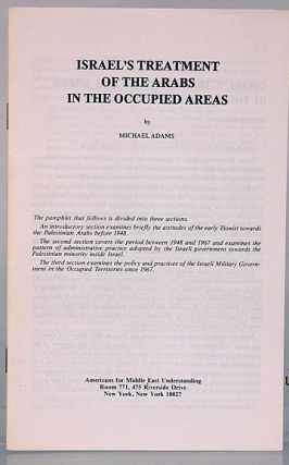 Israel's treatment of the Arabs in the occupied areas
