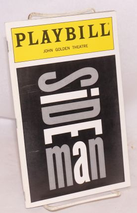Sideman; playbill for the John Golden Theatre production