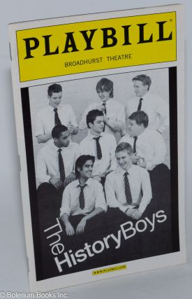 The History Boys: Playbill for the Broadhurst Theatre Production