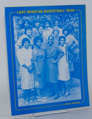 Lady Spartan Basketball '82-83: Official program