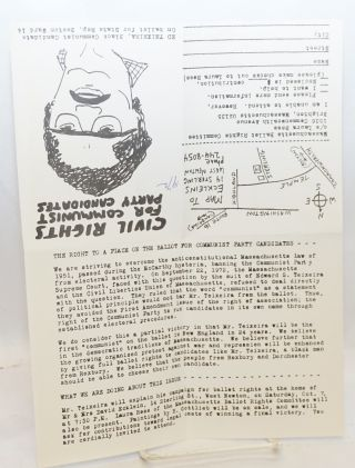 Civil rights for Communist Party candidates. Ed Teixeira, Black Communist candidate on ballot for State Rep, Boston Ward 14