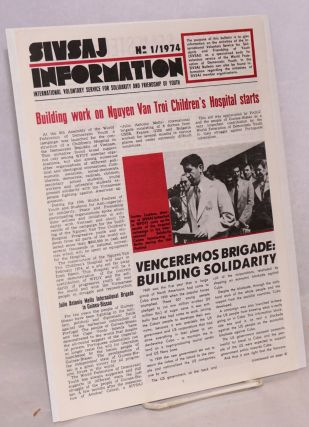 SIVSAJ information No. 1/ 1974. International voluntary service for solidarity, friendship of youth