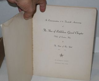 Book of the Years, 1944 - 1964; In commemoration of the twentieth anniversary of The Star of Bethlehem Grand Chapter, Order of Eastern Star, New York