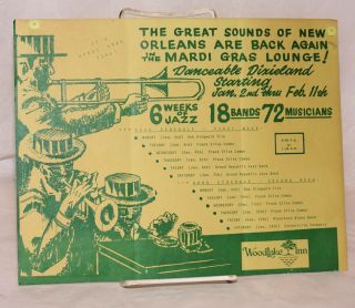 The great sounds of New Orleans are back again in the Mardi Gras Lounge! (handbill/mailer