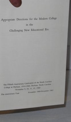 Appropriate Directions for the Modern College in the Challenging New Educational Era Golden Anniversary, 1960-1961