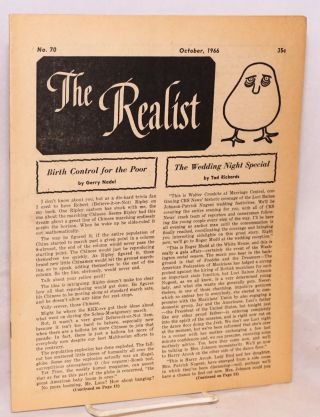 The realist [no.70] October, 1966. Paul Krassner, ed