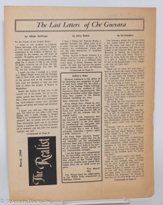 The last letters of Ché Guevara. The realist, March, 1969 [Supplement]. Paul Krassner, Ed...