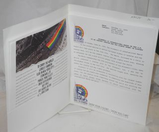 Press packet for Raise the Rainbow