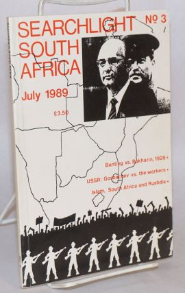 Searchlight South Africa; no. 3; a Marxist journal of South African studies