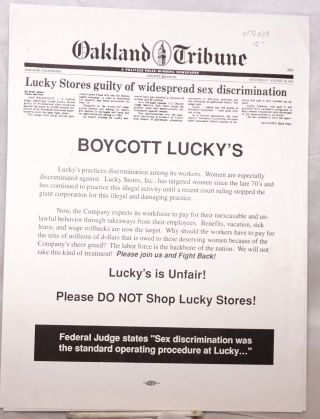 Boycott Lucky's. Lucky's is Unfair! Please DO NOT Shop Lucky Stores