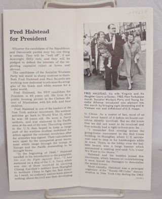 The Socialist candidates in 68. Fred Halstead for President, Paul Boutelle for Vice President