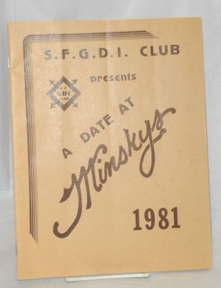 SFGDI Club presents A Date at Minsky's